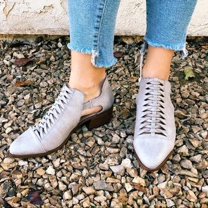 Light Gray Braided Ankle Booties